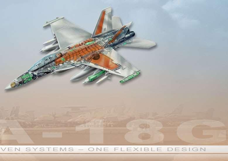 EA-18G FA-18E/F Common Subsystems Hydraulic System Independent circuits for safety/survivability Dual pressure hydraulics allow more compact system Propulsion System F414-GE-400 engines Twin engines