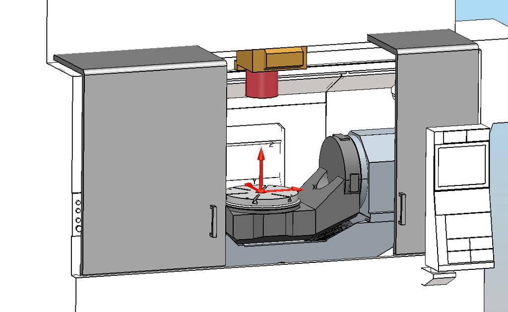 Correct World Workplane position: Axes Directions The movement of a machine tools axis, whether linear or rotational, is defined in the *.mtd file as a vector value (i, j and k).
