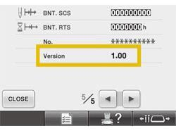 BNT10 Ver. 4.22 Software Update p.2 The number of pages in the Settings screen will vary depending on the program version in your machine. 5. If the version shown on your machine is already Version 4.