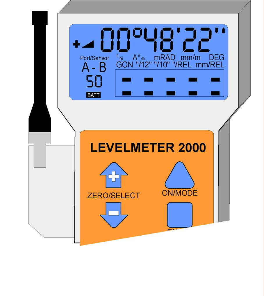 LEVELMETER 2000 INCLUDING RADIO MODULE Important: The MINILEVEL NT or the LEVELTRONIC NT must be switched ON via <ON/OFF> button. The red LED must be blinking.