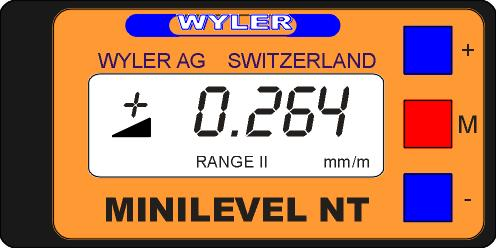 Remedy:...MINILEVEL NT 11 1. Check if the base of the instrument is still in proper condition. If the base shows signs of damage the instrument should be sent to WYLER AG for reconditioning. 2.