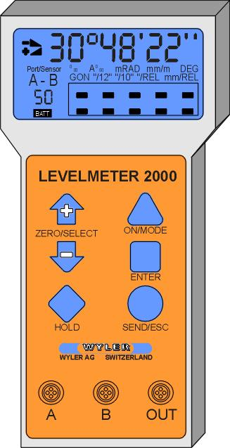 or via wireless transmission The LEVELMETER 2000 has a number of built-in sophisticated options, which can be used by the skilled user.