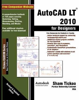 AutoCAD LT 2010 This course explores the latest tools and techniques covering all draw commands and options, editing, dimensioning, hatching, and plotting techniques available with AutoCAD LT 2010.