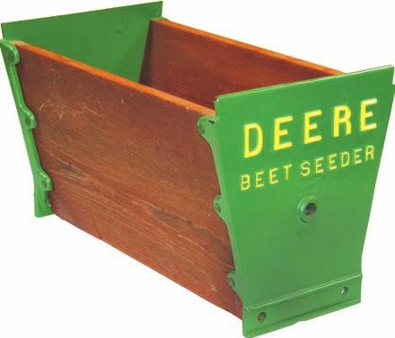 A John Deere match safe with an inscription reading, John Deere Plows-the World Standard, and much easier to carry than the dinner bell, brought the same money. It also sold for $4,000.