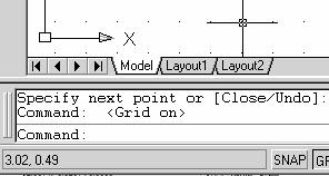 1-10 AutoCAD LT 2007 Tutorial Visual Reference The method we just used to create the freehand sketch is known as the interactive method, where we use the cursor to specify locations on the screen.
