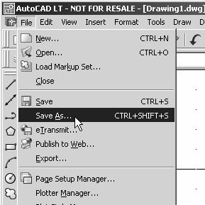 1-24 AutoCAD LT 2007 Tutorial 7. In the command prompt area, the message Specify Diameter of circle: <2.50> is displayed.