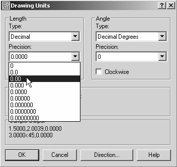 1-4 AutoCAD LT 2007 Tutorial Drawing Units Setup Every object we construct in a CAD system is measured in units.