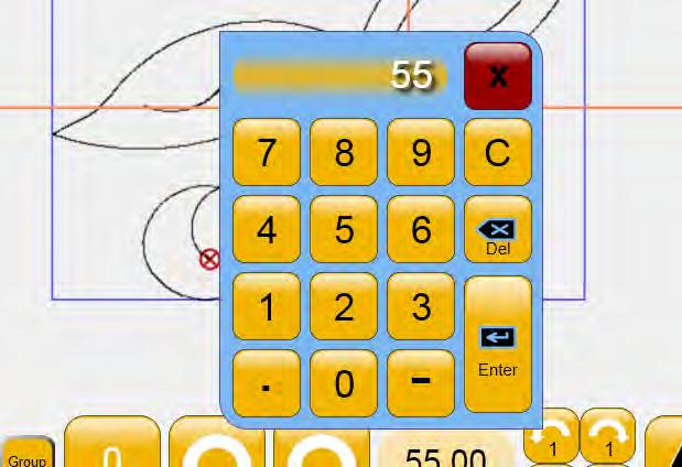 and entering a value using the number pad (Figure 5.