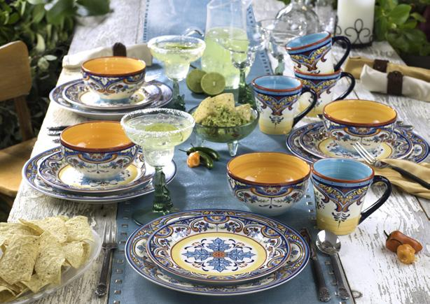 Zanzibar Find new expression with this vibrantly embellished dinnerware.