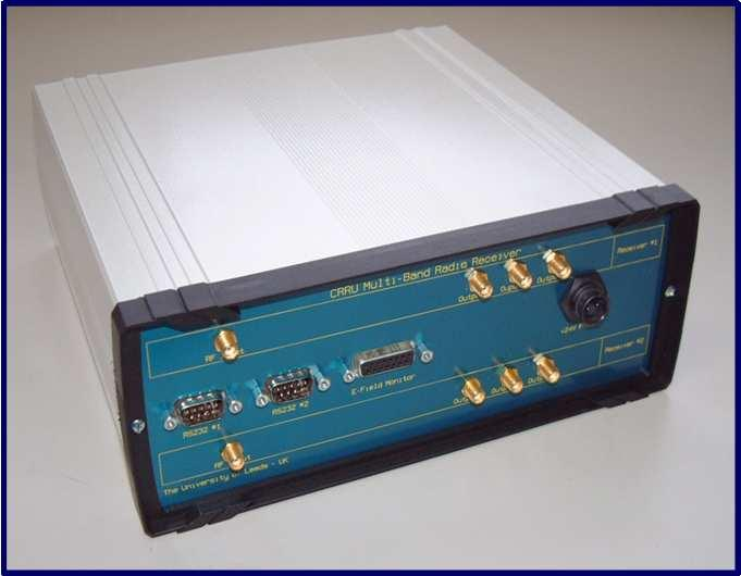 Figure 3.10:. The Leeds designed Cosmic Ray Radio Unit (CRRU) receiver and amplifier.