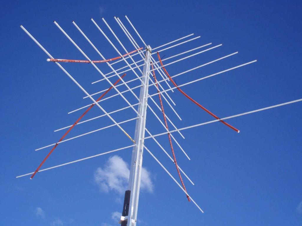 Figure 3.22:. An LPDA Antenna missing an arm after a particularly strong windstorm.
