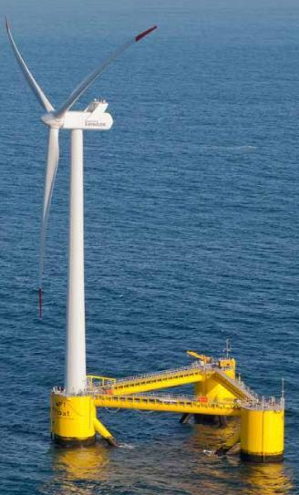 Principle Power WindFloat, 2 MW Semi-taut moorings, drag anchors Fukushima Wind