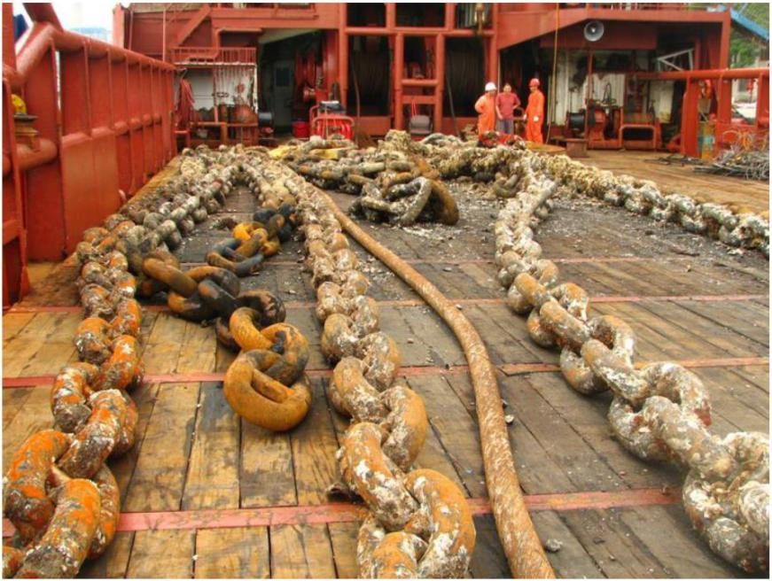 Mooring Materials: Chain Duggal, A.S and Fontenot, W.L. 2010. Anchor Leg System Integrity From Design through Service Life, Offshore Technology Conf., Houston, TX, pp. 1-5.