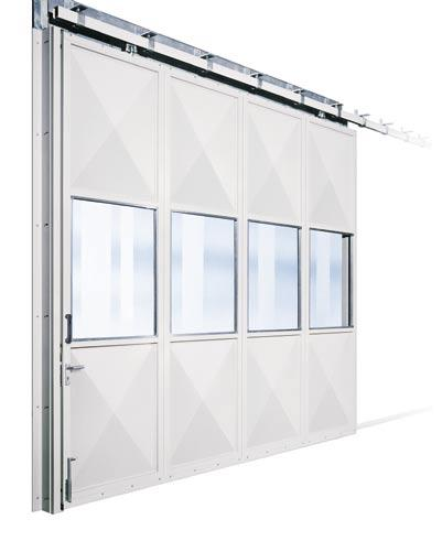 KSE single-skinned door type The door leaf comprises elements of continually welded rectangular hollow sections with