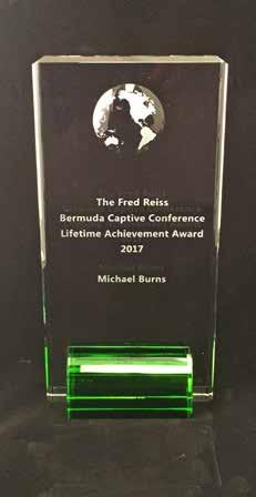Bermudian corporate lawyer Michael Burns, has been selected winner of the 2017 Fred Reiss Lifetime Achievement Award A leading Bermudian corporate lawyer, Mr Burns, is a former senior partner,