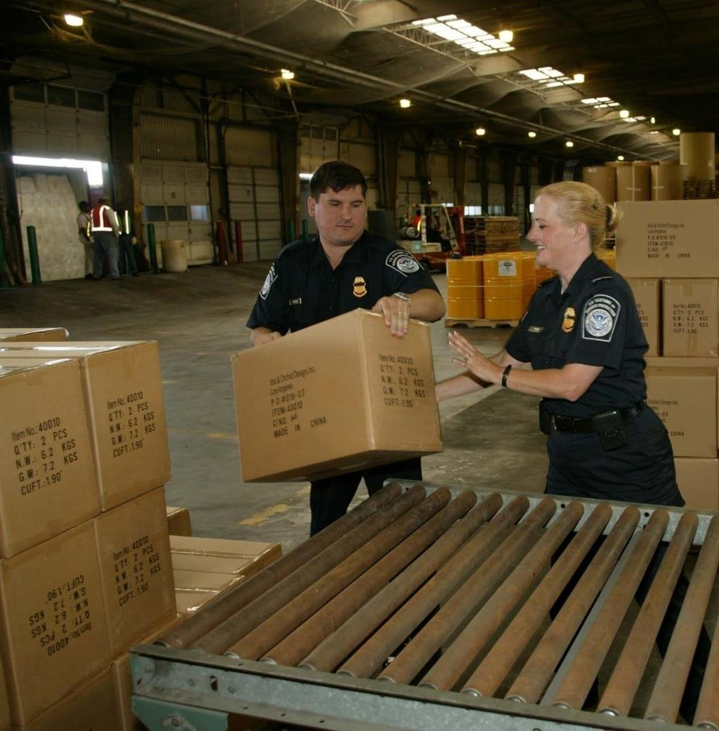 Trade Security In FY10, CBP inspected 105.