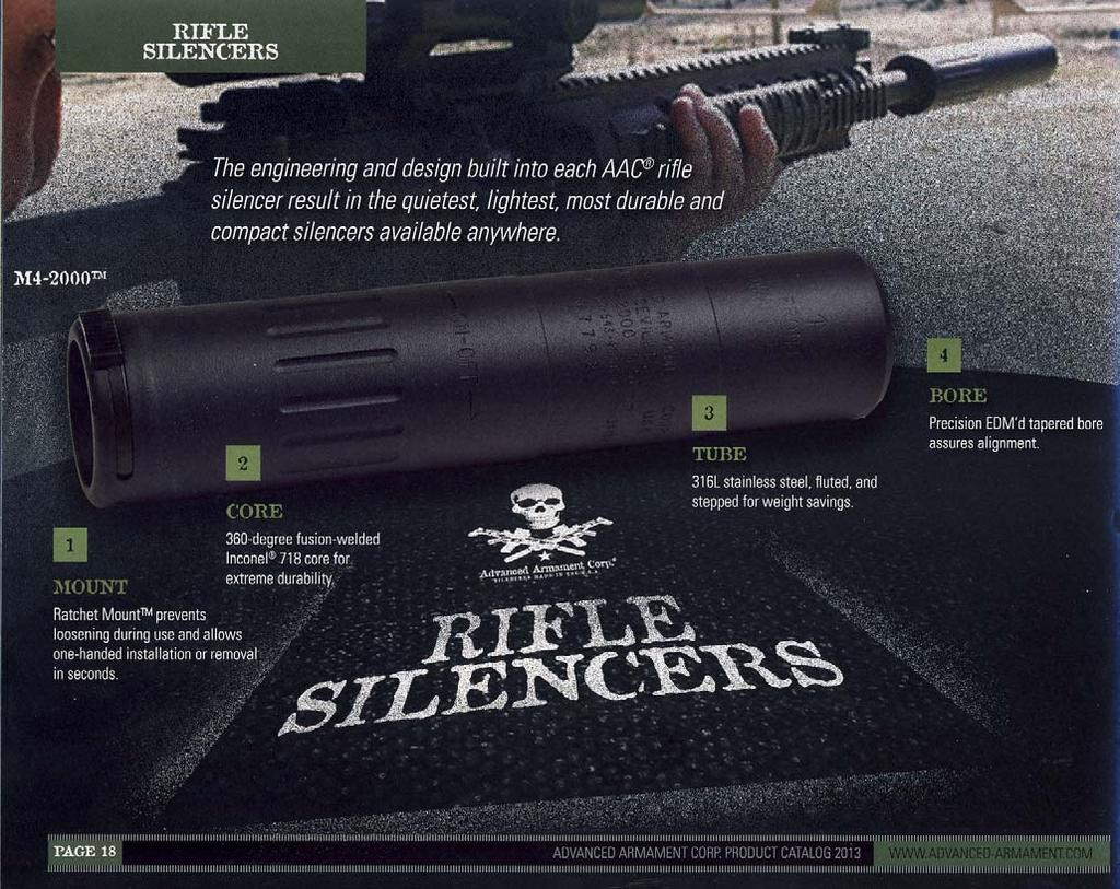Freedom Group also owns Advanced Armament Corp., a manufacturer of silencers.