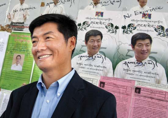 Lobsang Sangay LL.M. 96 S.J.D. 04 is the first to admit he has rather big shoes to fill as he prepares to take office as prime minister, or Kalon Tripa, of Tibet s government-in-exile.
