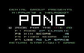 "CF: other games on your website are Tetris / Pong and Return To Fort Knox can you tell our readers a little about these games AP: ""Tetris"" was the program that made me acquaint again with the VIC-20"