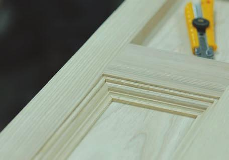 join newel frames into a box. I complete my newels with 5/8 x 5/8 Roman ogee trim on inside edges of the frames.