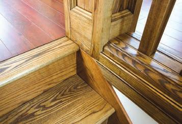 Total height of the completed railing is 38 above finished floor and stair tread, with a space of