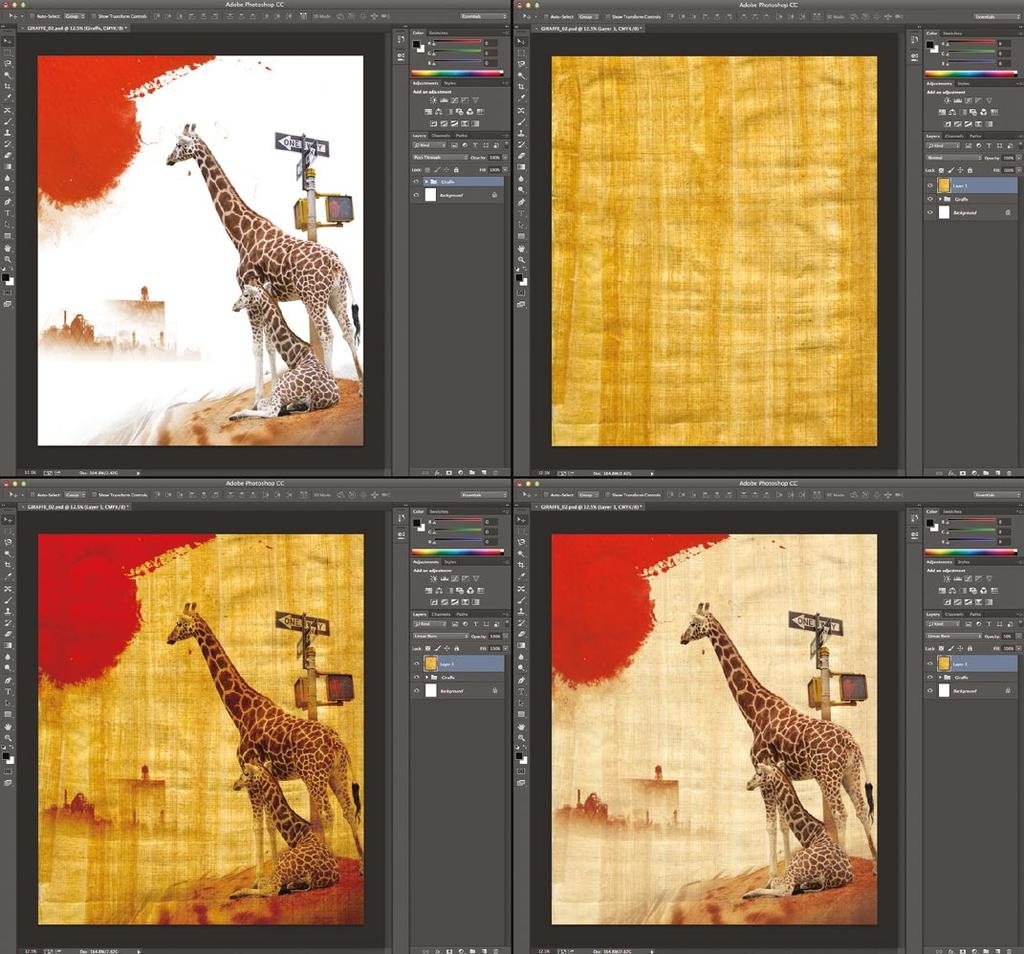 BLENDING MODES IN ACTION IN ADOBE