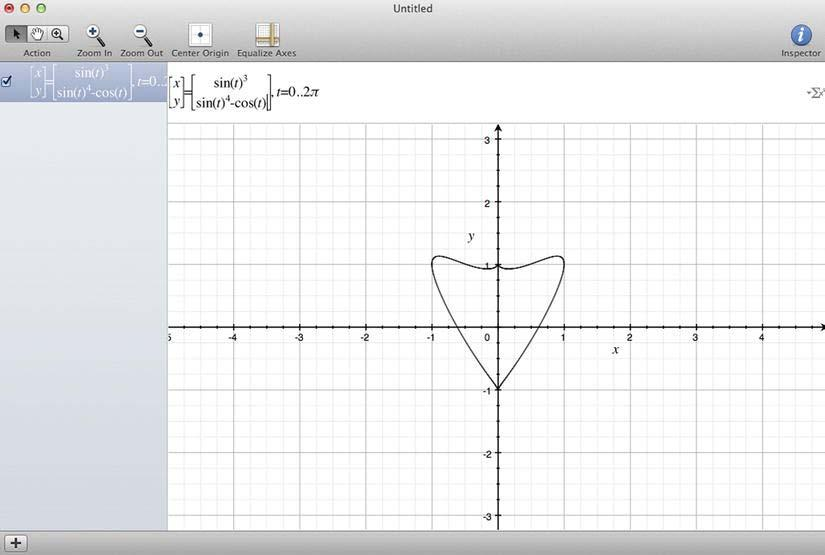 CHAPTER 5: Making a Shoot-Em Up: Carrot Invader 145 Figure 5-17. Heart drawing in Grapher To draw this equation, I used Grapher with a Mac OS utility provided by default. MacRumors.