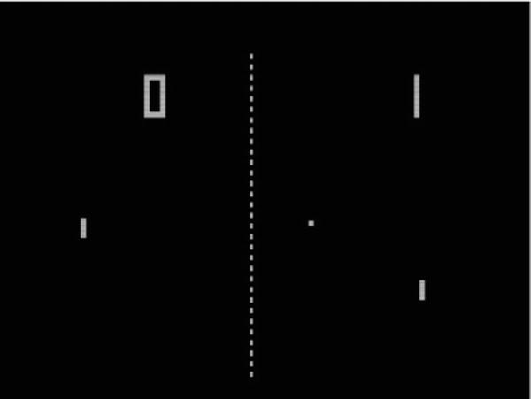 32 CHAPTER 2: The Pong Game as it is today so games were quite limited. One of the most important limitations was the graphics. As one of the very first arcade games, Pong was no exception.