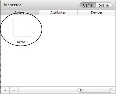 44 CHAPTER 2: The Pong Game Modifying Attributes To modify an actor, double-click the actor in the Actor window in the Scene Editor. This will open the actor prototype in the Actor Editor.