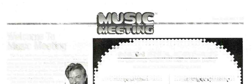 Welcome To Music Meeting. This is the debut column covering Music Meeting, the online partnership between R &R and Liquid Audio (and Selector and other partners soon to be revealed).