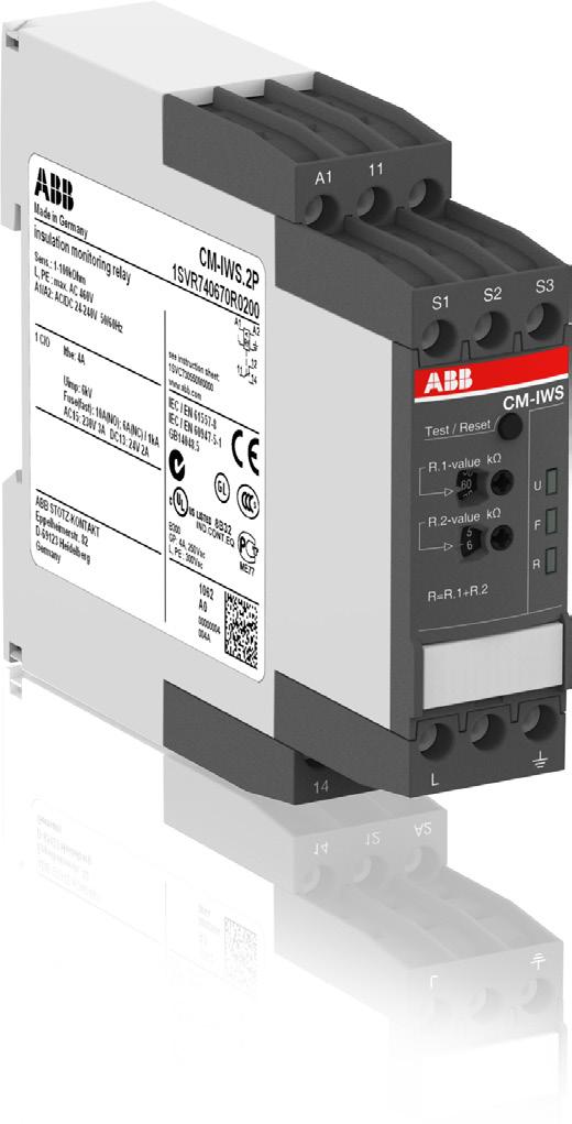 Data sheet Insulation monitoring relay CM-IWS.2 For unearthed AC systems up to U n = 400 AC The CM-IWS.