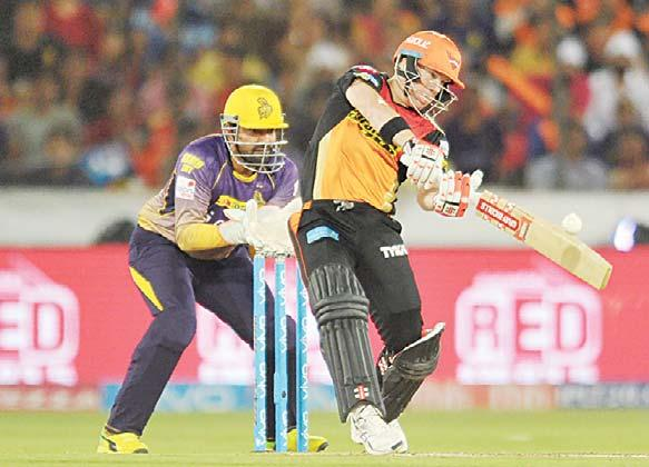 SPORTS 41 Kings XI Punjab sweep 10-wicket victory over bottom-place Delhi Daredevils Warner century earns Sunrisers big win over Knight Riders HYDERABAD, India, May 1, (AP): A blistering 126 off 59