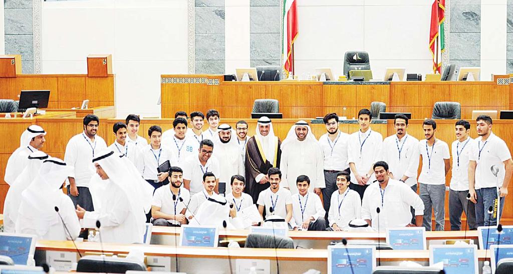 LOCAL 5 Youth are symbol of Kuwait s success: Al-Roudhan Group photo at the closing ceremony of 5th Kuwait Science, Engineering competition.