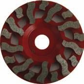 aggressive PCD diamond cup wheels. Excellent for cutting glues and mastics from floors.