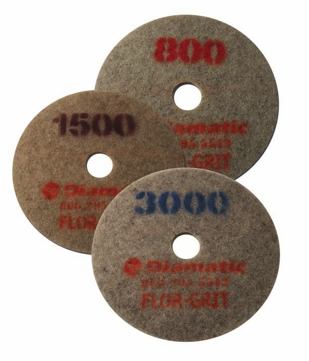 Pad 3000 Grit Quality high-speed diamond impregnated burnishing pad. For use on concrete and stone during the polishing process.