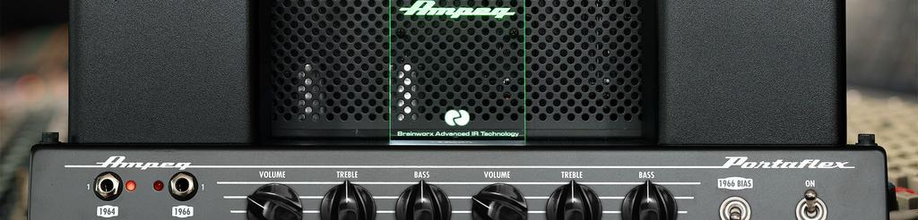 The Basics You can use the amp section of this plug-in exactly like you would operate the real Ampeg B-15N tube amplifier.