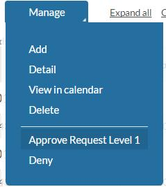 To approve using the List View You put a check in the box