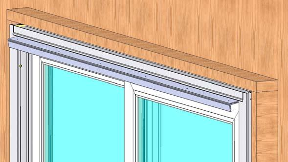 21) Place the panel retainer into the head, between the side jambs and over the operating panel as shown (Fig. 32).