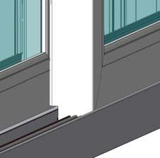 Roller Adjustment Holes Operating Panel Figure 34 Equal gaps Head End Sill End Top 23) Snap the side jamb track covers into the jambs as shown