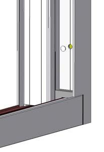 24) Snap the head track cover into the exterior track in the head, between the fixed panel and the side jamb as shown (Fig. 36).