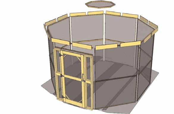 Thank you for purchasing a Screen Kit for our Octagon Gazebo Please take the time to identify all the parts prior to assembly.