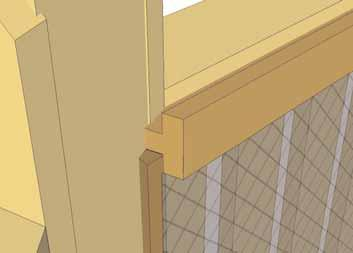 T Moulding should sit evenly on Handrail.