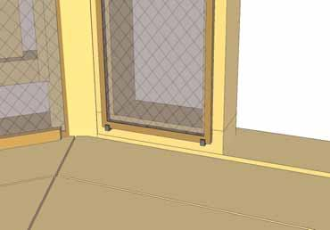 On the opposite side, an angle cut Door Jamb is included that