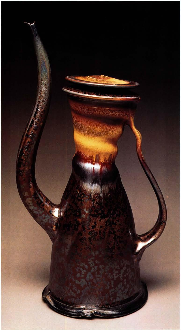 Cypress Ewer, 19 inches in height, stoneware, thrown and altered, with pulled