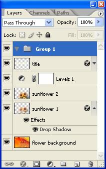 Layers Palette Menu Group Active Layer Layer Expand/Collapse Layer Effects Layer Effect Layer Thumbnail Display the Layers