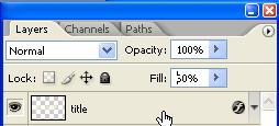 Specify Fill Opacity for a Layer: In addition to setting opacity, which affects any layer styles and
