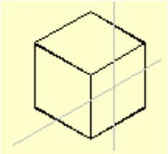 Isoplane top - Selects the top face of the cube, called the top plane, defined by the 30-degree and 150-degree axis pair.