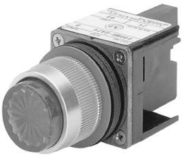 800MR - Potentiometers, Pilot Lights, and Wobble Sticks uild a Catalog Number Potentiometer perator nly This operator is suitable for mounting potentiometers or other small single turn rotary