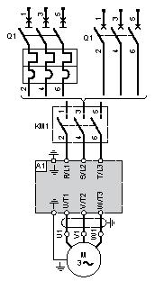 Connections and Schema Three-Phase Power Supply Wiring Diagram A1 KM1
