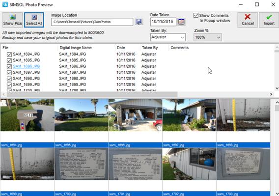Simsol Photo Guide 4 viii. Click Done to complete importation of a single photo into Simsol Program.